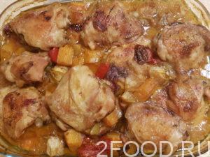 Праздничное блюдо из мяса курицы