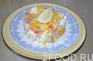 Салат оливье с кукурузой рецепт с фото