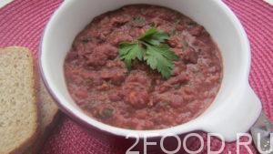 Лобио по-грузински с томатной пастой