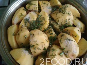 Курица с картошкой на сковороде рецепт
